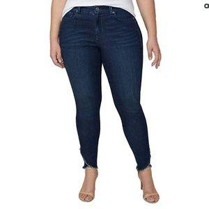 Super Stretch Skinny Ankle Jean - Wrap Hem